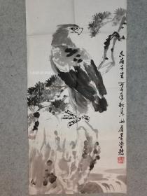 苏葆桢高足 著名画家谢厚星 国画鹰 原稿手绘真迹 永久保真