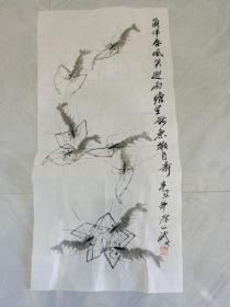 收藏家陈公波画   虾趣图