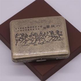 铜器铜烟盒一个