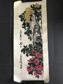 吴昌硕 花卉作品 国画镜片  花卉镜片