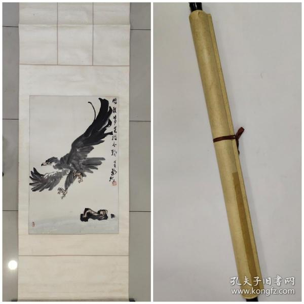 【欧阳龙】精品花鸟画一幅,原装旧裱,自然老旧,立轴,画心尺寸58厘米//90厘米,喜欢的私聊