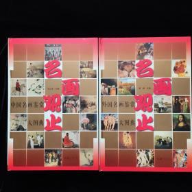 名画观止 中国名画鉴赏大图典、外国名画鉴赏大图典,豪华珍藏版全二册 8开 盒装  一版一印