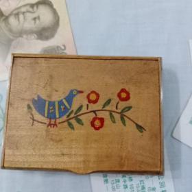 老货  木制烟盒