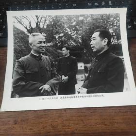超大尺寸:1952年,周恩来会见著名科学家李四光((地质学家、中国科学院院士)