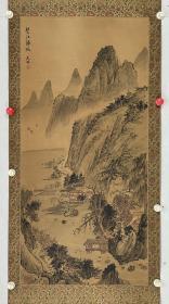 周天林  88/42  绢本立轴 1943年出生,师从著名国画家徐松安(张大千的弟子),曾任武汉中国书画院院长,湖北省美术家协会理事,湖北工艺美术大师