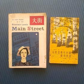 P26外国文学:大街,马克思青年时期爱情诗选2本合拍