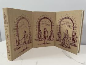 The Life of Samuel Johnson 《约翰逊传 》heritage press 1993 年出版  布面精装版 套装 全三卷