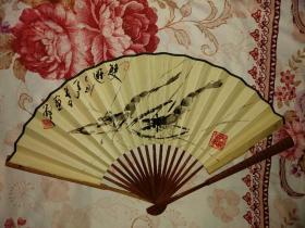 王敬之,著名古玉鉴定家,书法家,林散之的得意弟子,84年画的扇子,与林老风格极似。