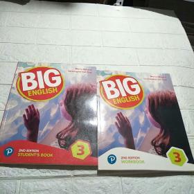 培生朗文 BIG ENGLISH 3:2ND EDITION (STUDENTS BOOK+ WORKBOOK) 2册合售(平装  16开 详情看图)