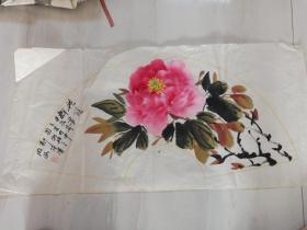 王同海。菏泽牡丹画家。