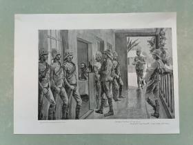 100年前 欧美 杂志 期刊 老版画 插图 散页 F