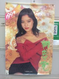 1994年挂历——女明星一张(张弘)长85.5厘米,宽57厘米,号12