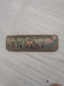 80年代,大象图案铅笔盒,21*6.5