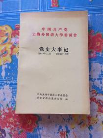 中共共产党上海外国语大学委员会党史大事记(1949年11月―1993年12月)