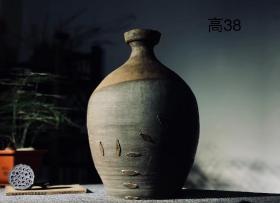 """锯瓷器物之美,""""锯瓷""""艺术,渐变色陶罐,包老"""