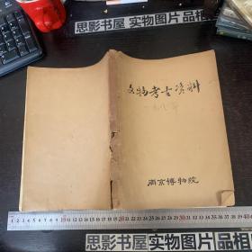 文物考古资料  1981年(油印)