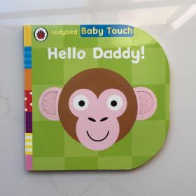 英文原版 Ladybird Baby Touch Hello Daddy 宝宝触摸书 亲情 父亲节庆礼物 英国小瓢虫 启蒙认知纸板