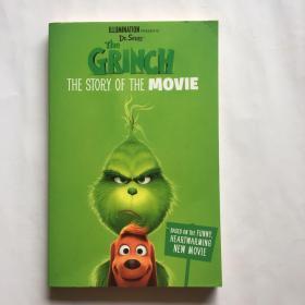 绿毛怪格林奇电影故事书 英文原版 The Grinch:The Story of the Movie 苏斯博士圣诞怪杰 Dr.Suess 6-12岁 鬼精灵 卷福配音