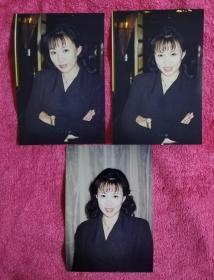 著名影视演员 马丽 老照片三枚(带底片3张)电视剧武则天饰演高阳公主