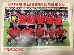 足球海报 2000欧洲杯 西班牙/劳尔