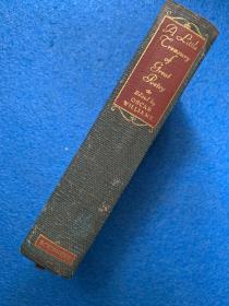 (1947年初版) A Little Treasury of Great Poetry : from Chaucer to the present day ( 布面精装)铜板插图