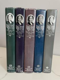 the diary of virginia woolf 《伍尔夫日记全集》 1977年出版 硬精装 套装全五卷 品佳