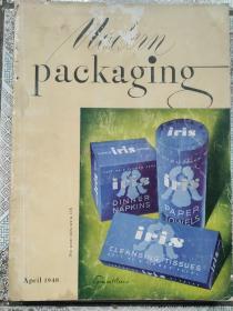 民国  现代包装1948年第4期  MODERN PACKAGING 多广告