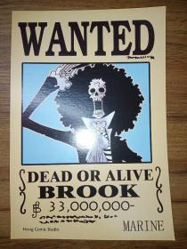 WANTED——DEAD OR ALIVE (BROOK)【英文漫画卡片】