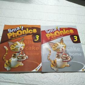 Smart Phonics 3 STUDENT BOOK ,WORKBOOK(附光盘) 2本合售 (平装 16开 详情看图)