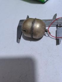 民国铜镀银铃铛4厘米,响声清脆,收藏品