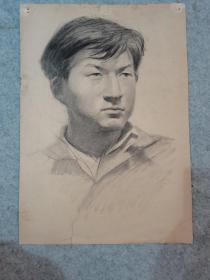 七八十年代老素描人物画 原稿真迹(西安美院高材生作品)