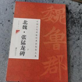 中国古代阿碑帖经典彩色放大本:北魏·张猛龙碑