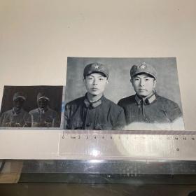 两佚名军人照片及底片