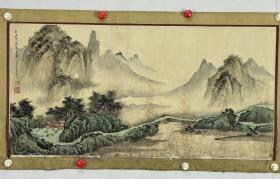 周天林  尺寸 86/43 横幅 1943年出生,师从著名国画家徐松安,曾任武汉中国书画院院长,湖北省美术家协会理事,湖北工艺美术大师
