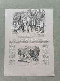 100年前 欧美 杂志 期刊 老版画 插图 散页 H