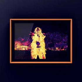 摩诃那油画《大海燃烧我的巢穴》