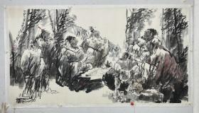 郝凤先   尺寸 179/97   托片 1945年生于辽宁新民,毕业于鲁迅美术学院研究生班。现为北方画院院长、文化部专职画家、中国美协会员、中国书协会员、中国一级美术师。先后在韩国、泰国、新加坡、日本举办个人画展并进行艺术交流。