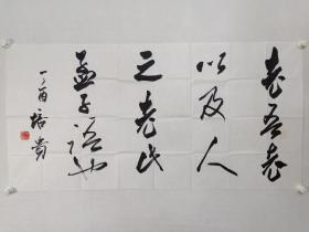 保真书画,中国书协副主席,北京书协主席,首都师范大学教授,博士生导师,叶培贵四尺整纸书法佳作一幅68.5×138cm。