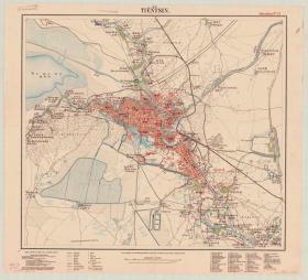 古地图1903 天津市区图 中英文版。纸本大小96.64*106.14厘米。宣纸艺术微喷复制。300元包邮
