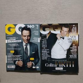 GQ杂志 2014年 2册合售 英文版 书目请看图