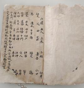 清代手稿六爻占卦秘籍,乾宫六爻断,