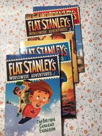 Flat Stanley's Worldwide Adventures 【1 2 3 4】+ Flat Stanley【3册】