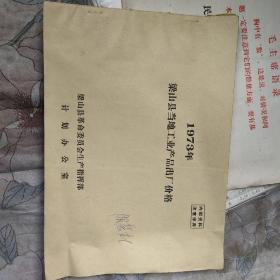 1973年梁山县当地工业产品出厂价格