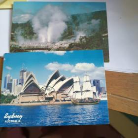 国外风光明信片5枚合售