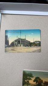 民国上海法租界明信片,有签名