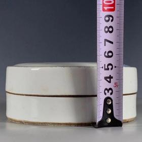 青花虾趣图印泥盒粉盒