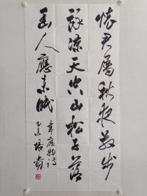 保真书画,中国书协副主席,北京书协主席,首都师范大学教授,博士生导师叶培贵先生四尺整纸书法佳作一幅137.5×69cm,软片。