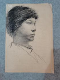 七八十年代素描人物 双面画人物素描 原稿真迹