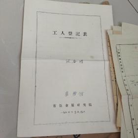 1961年档案材料(一个人的,返乡人员)