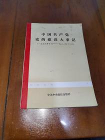 中国共产党党的建设大事记(一九七六年十月--一九八一年十二月)一版一印